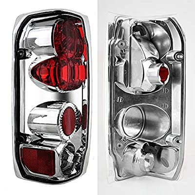 For 1992-1996 Ford F150 F250 F350 Chrome Clear Headlights + Corner + Bumper Lamps + Tail Brake Lights: Automotive