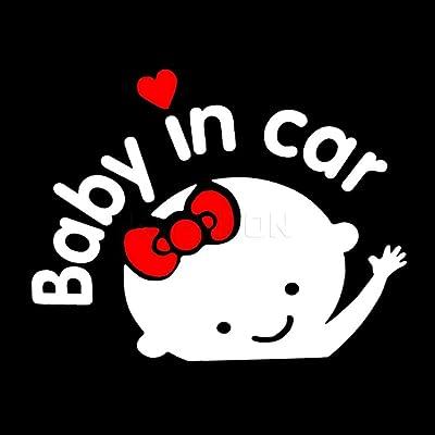 AITU Autocollant automobile Stickers 3D Bébé dans la Voiture réchauffe-Autocollant de Voiture Bébé à Bord de Voiture Accessoires Sports et Loisirs