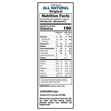 GIANTS Semillas de girasol saladas (12-5,75 oz. Bolsas ...