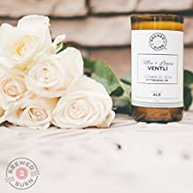 Custom Wedding Favor Candle: Hand Poured in an authentic beer bottle. Choose from six romantic scents: Amber Ale, Cherry Wheat, Oatmeal Stout, Vanilla Coffee Porter, Gingered Apple Cider, Nutbrown Ale