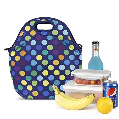 YONOVO Large Thick Reusable Neoprene Lunch Tote...