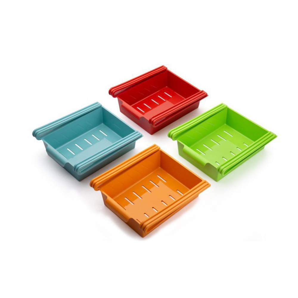 Multipurpose Refrigerator Storage Rack Set, Set of 4