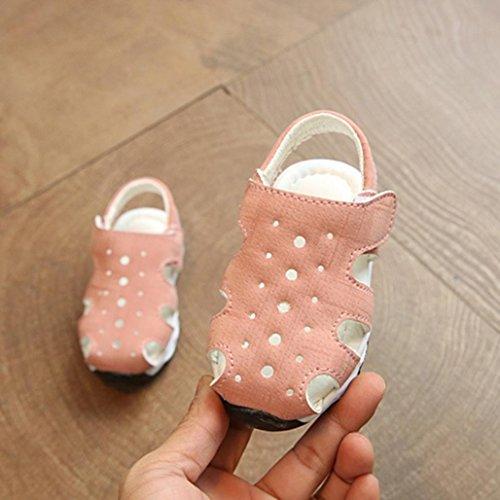 Jamicy® Kinderschuhe Baby Jungen Mädchen Fashion Light Luminous Casual Sandalen Schuhe Rosa