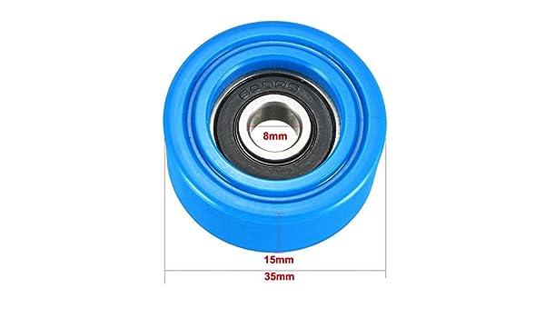 tama/ño : 3x12x3mm 10x35x11 WNJ-Tool 3x15x4mm Azul//Negro//Blanco del Rodillo Estable cojinete de la polea Deslizante Rueda transportadora 3x12x3 4x13x4 8x30x11 2pcs 6x30x10