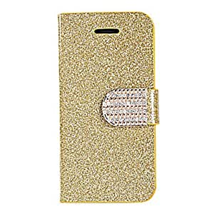 Joyland Fluorescence Color PU Leather Full Body Case for iPhone 4/4S(Assorted Color) , Gold