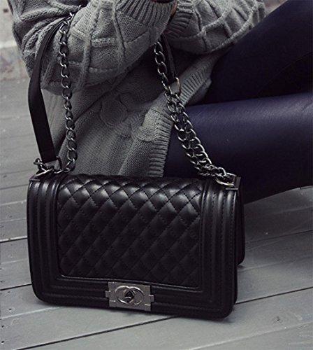 MEILI Bolso con estilo Lingge cadena hombro Messenger bag femenino, salvaje, clásico , 2 1