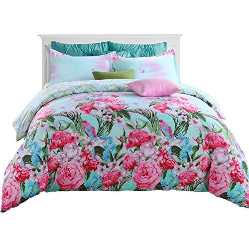 GOOFUN-D4Q 3pcs Duvet Cover Set/Bedding Set 1 Duvet Cover 2 Pillow Shams Lightweight Microfiber Well Designed - Comfortable, Breathable, Soft & Extremely Durable,Full/Queen Size