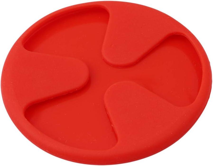 la Cuisine Non Glissante id/éal pour la Maison Sevenfly Ensemble de 6 Dessous de Verre en Silicone 6 Couleurs Le Bureau Le Bureau et la Table