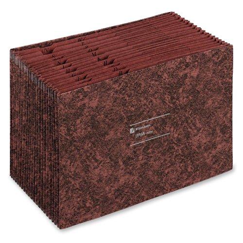 Wilson Jones LeatherLife Expanding File, 18 Inch Expansion, Indexed A to Z, 10 x 15 Inches, Brown (WCCLV19A) (Wilson Jones File)