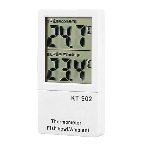 Pssopp Termómetro Digital LCD para acuarios Clima Ambiental ...