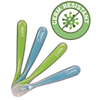 Cuddle Baby Gum-Friendly First Stage Soft Tip Silicone Feeding Spoons for Bab...