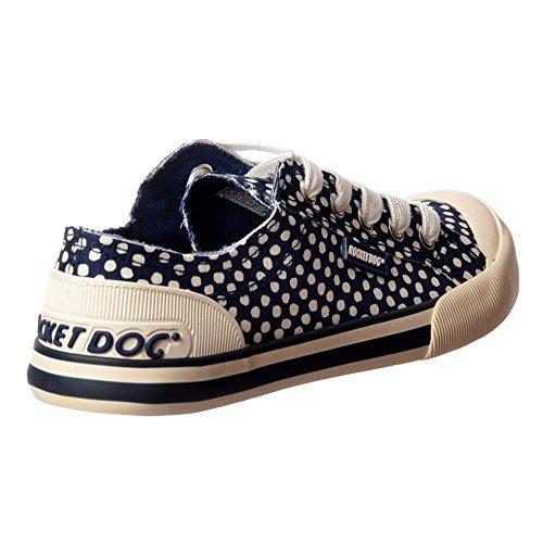 Rocket Dog Femenina Jazzin Escrutinio Encaje Zapatos Zapatillas De Cubierta Plana Marina Me Prestas