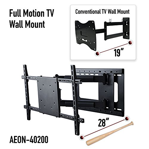 Aeon Stands and Mounts 40200 full motion TV wall mount with 28'' Extension (Black) by Aeon Stands and Mounts (Image #3)
