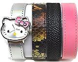 Hello Kitty By Sanrio Analog Watch 4 Strap Bracelet Silver Watch/ Bacelet