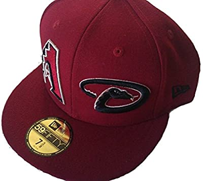 Arizona Diamondbacks Fitted 7 3/8 Hat Double Logo Cap - Gold Sticker Attached