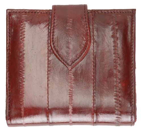 (French Frame EEL Skin Leather Ladies Wallet #E573)