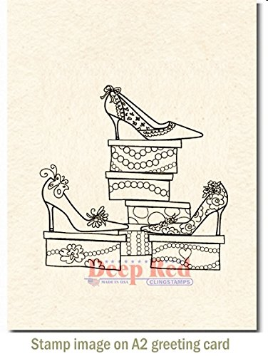 Deep Red Stamps Shoe Sale Rubber Stamp