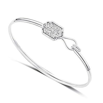 084fc21d291dc DALARAN Bracelet de Femmes Bracelet de Manchettes Bracelet Extensible  Bracelet de Manchette Argent