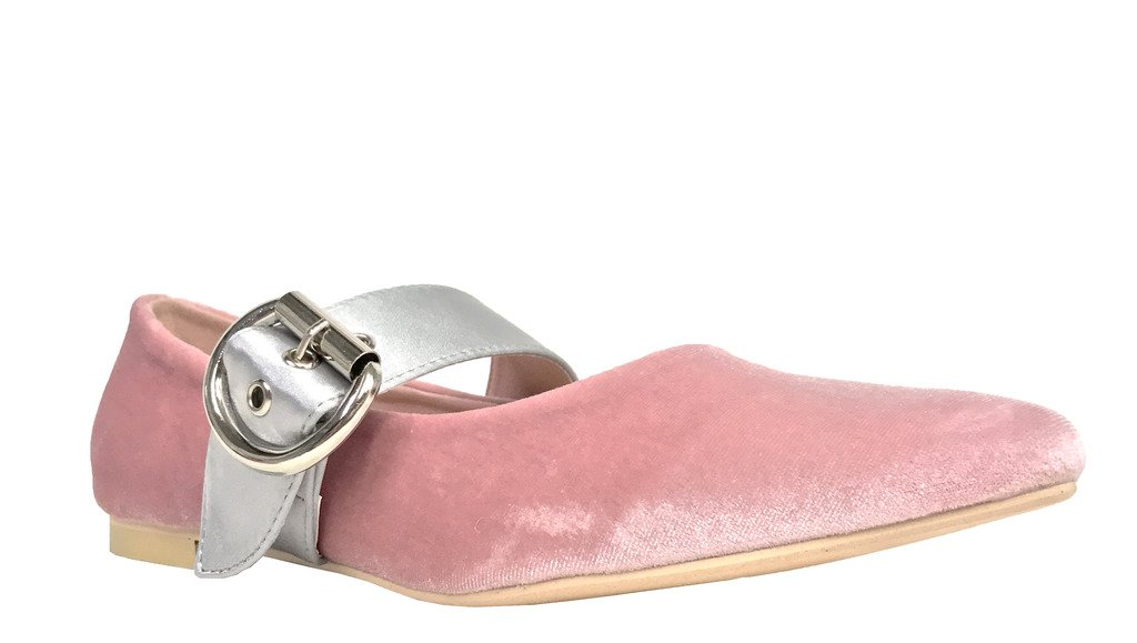 CAPE ROBIN Zadie 2! Cape Robbin Women's Mary Jane Casual Dressy Ballet Flats B06Y1K3R69 6 B(M) US|Pink Velvet
