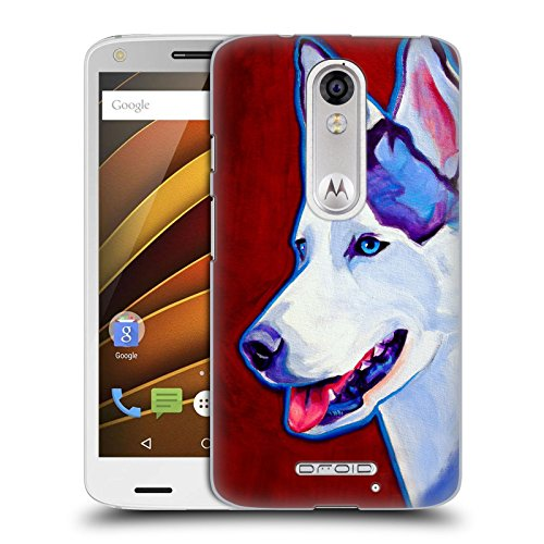 Official DawgArt Siberian Husky Dogs Hard Back Case for DROID Turbo 2 / X Force