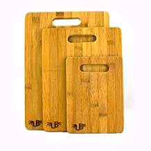 Bamboo 3-Piece Cutting Board Set Eco-Friendly Durable Ultimate Bamboo by Ultimate Bamboo