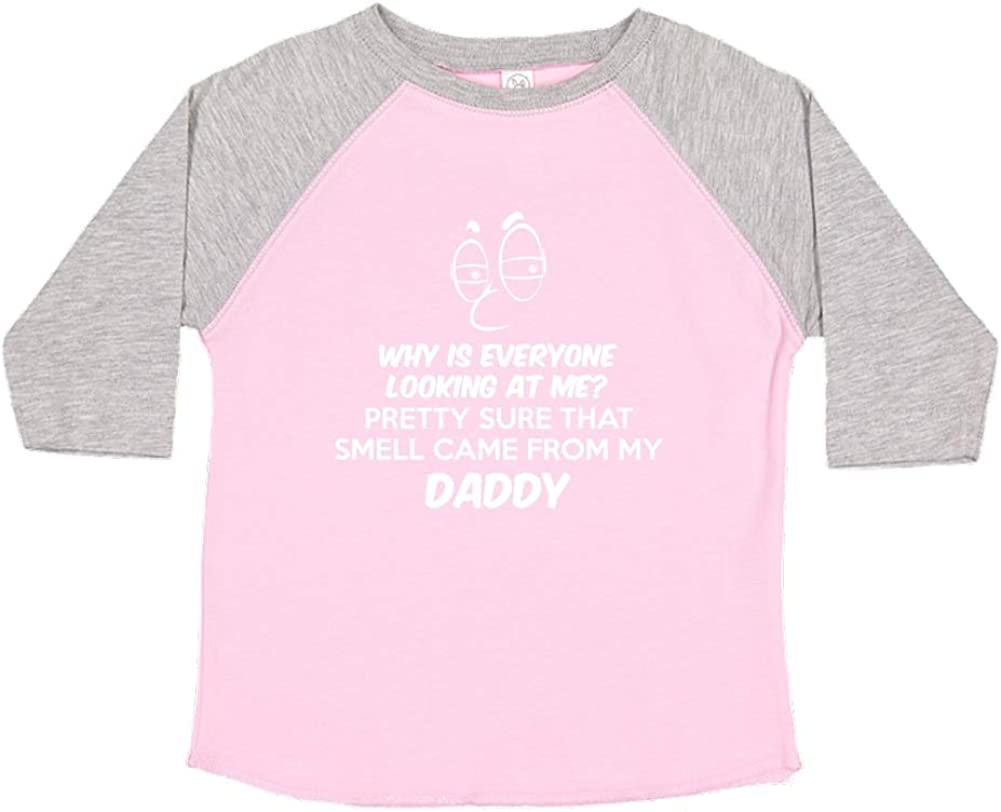 Mashed Clothing Pretty Sure That Smell Came from My Daddy Toddler//Kids Raglan T-Shirt
