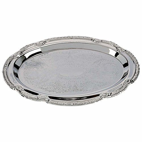 Tray Oval Decorative - Decorative trays - Nickel Plated - (Set of 4 Oval Shaped trays)