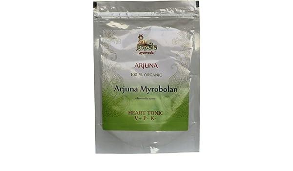 Arjuna (Terminalia Arjuna), Certificado ecológico, Estimula la circulación sanguínea, Tonifica el corazón, 100% Vegano, En polvo 100 gr: Amazon.es: Salud y ...