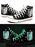 Attack on Titan Shingeki No Kyojin Cosplay Wings of Liberty Cosplay Shoes Canvas Shoes Sneakers Luminous