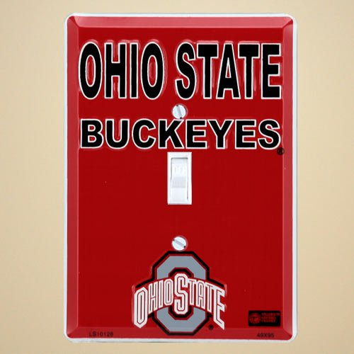 Ohio State Buckeyes Metal Light Switch Cover (Ohio State Bathroom)