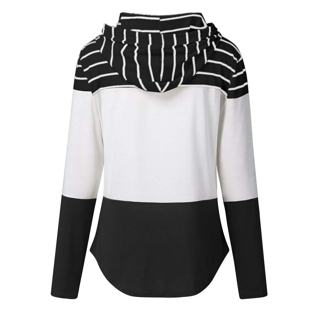 Allegorly Femme T-Shirts Manches Longues Sweatshirt Rayures D/écontract/ée Col Rond Chemisier Tops Blouse Casual Shirt De Sport Chemise Blouse Shirt Casual Lisse Top