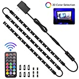 LED Strip Lights, HitLights 3 Pre-Cut 12Inch/36Inch LED Light Strip Accent Kit for 24'-60' TV,Mirror,PC, Flexible Color...
