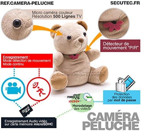 Orso in Peluche telecamera nascosta lunga durata rilevamento di