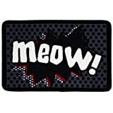 Meow Cartoon Cat Food Mat
