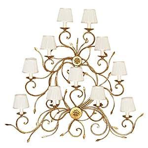 Tredici Design Wall Lamp, Bronze/white - 1400.11cp