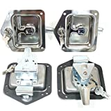 auto keys and locks - Red Hound Auto 4 Rv Door Tool Box Lock with Gasket T-Handle Latch with Keys 304 Stainless Steel Highly Polished