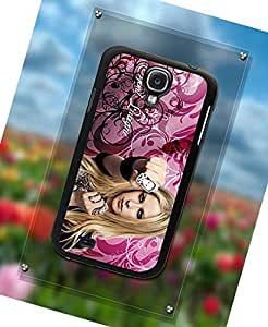 Custom Printed Phone Funda Case Avril Lavigne Pretty Girl Singer For Samsung Galaxy S4 i9500