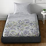 Spaces Essentials  144 TC Cotton Single Bedsheet with Pillow Cover - Lavender