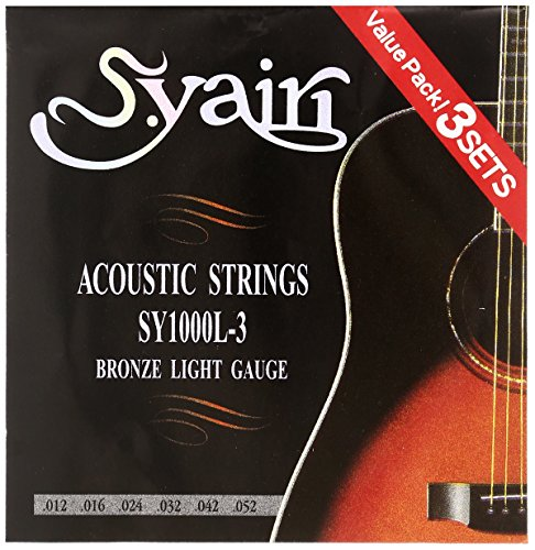 S. Yairi Acoustic guitar string SY-1000L-3 3set pack for sale  Delivered anywhere in USA