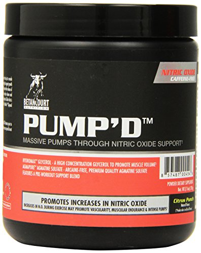 Betancourt Nutrition Pump'd Pre-Workout Supplement, Citrus Punch, 210 Gram