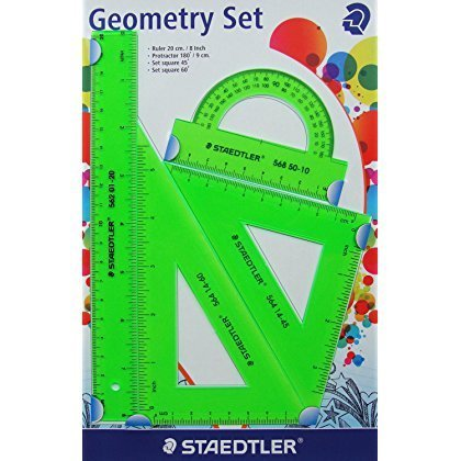 - Staedtler Ruler Geometry Set (Green)