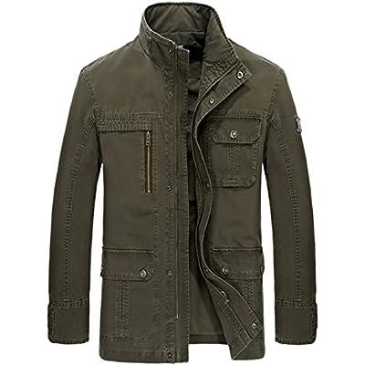 Top Nyngei Men Fall Motorcycle Jacket Fashion Jacket Zipper Cowboy Canvas for cheap