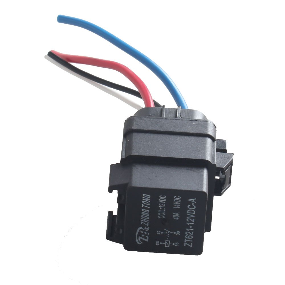 E Support Car Truck Motor Heavy Duty 12v 40a Spst Relay Socket Plug How To Wire A Spdt 4pin 4