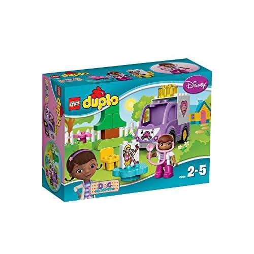 LEGO - 10605 - Duplo - Jeu de Construction - Rosie l'Ambulance de Docteur la Peluche