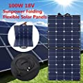 Best Cheap Deal for Solar Panel, MOHOO 100W 100Watt Bendable Foldable Thin Lightweight Solar Panel Battery Charger with MC4 Connector Charging Sunpower Cells for RV, Boat, Cabin, Off-Grid by MOHOO - Free 2 Day Shipping Available