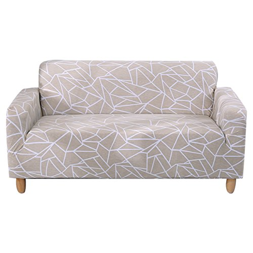 FORCHEER Stretch Sofa Slipcover Printed Pattern 4-Seat Spandex Couch Cover for 3 Cushion Couch 1 Piece Furniture Protector for Living Room, Pets, Large Sofa (Cushion Sofa Pattern)