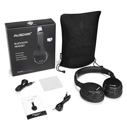 Bluetooth Headphones Wireless, AUSDOM M05 Portable Stereo APTX Music...
