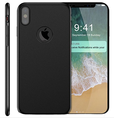 CIPO Case for iPhone X Case, Case for iPhone 10 Case, Cipo Slim Dual Layer Scratch Resistant Shockproof Hard Case Protection [Support Wireless Charging] for iPhone X Edition - Black