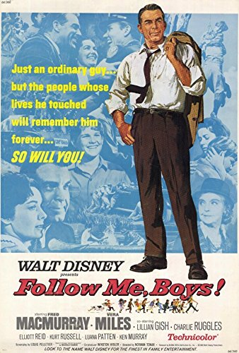 Follow Me Boys Poster Fred MacMurray Vera Miles Lillian Gish