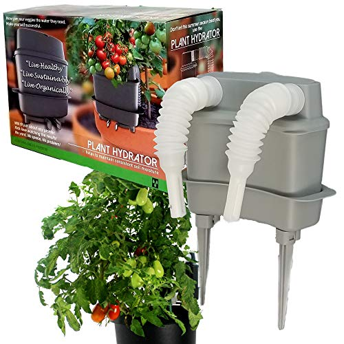 (Plant Hydrator [Beat Summer's Heat This Season ] Confidently Grow Your Vegetables an All [New Self Watering System Device for Container Gardening][Fits Any Planter Pot Grow Bags Bulbs Spikes])